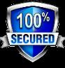 logo saying 100% secured